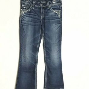Silver Jeans Co Suki Curvy Mid Rise Waist 29